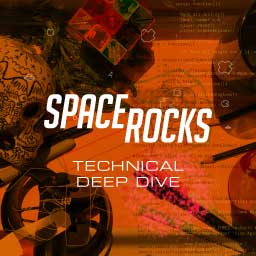 "Composite poster image for ""Space Rocks technical deep-dive"" article."