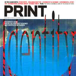 Cover of Print Magazine's October 2011 issue.
